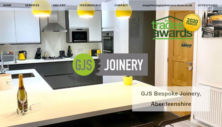 GJS Joinery website Inverurie Aberdeenshire